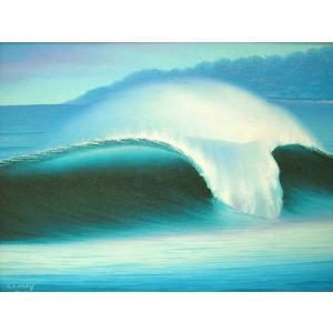 アジアン雑貨 バリ雑貨 バリアート絵画 M 横 Windy 『Seaside』 angkasa