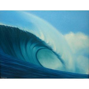 【送料無料】バリアート絵画L横Windy 『Big wave』M アジアン雑貨 バリ雑貨 バリ絵画|angkasa