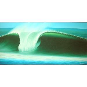 アジアン雑貨 バリ雑貨 バリアート絵画 LL 横 Seaside D 額横約82.5cmx縦52.5cm|angkasa