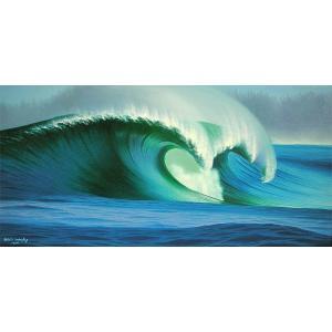 アジアン雑貨 バリ雑貨 バリアート絵画 LL 横 『Big Wave』 Windy Special Order作品 [額横約94cmx縦54cm]|angkasa