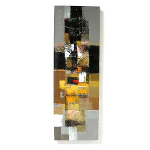 アジアン雑貨 バリ雑貨 バリアート絵画 L 縦 抽象画 [90x30cm]|angkasa