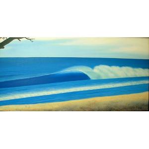 アジアン雑貨 バリ雑貨 バリアート絵画 LL 横 Seaside D 額横約82.5cmx縦52.5cm angkasa
