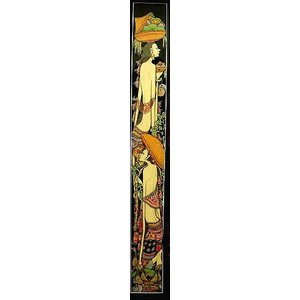 【30%OFF】 アジアン雑貨 バリ雑貨 バリ アート絵画 ロングサイズ 足長バリ人 B 縦約84cmx横23.5cm angkasa