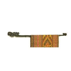イカットハンガー シングル ブラック 90cm 木彫り アジアン雑貨 バリ雑貨 タイ エスニック おしゃれなハンガー|angkasa