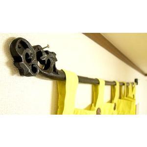 イカットハンガー 140cm シングル ブラック  木彫り アジアン雑貨 バリ雑貨 タイ エスニック おしゃれなハンガー|angkasa