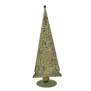 ピラミッド型 キャンドルホルダー リーフ&ベル シルバー アジアン雑貨 バリ雑貨 タイ おしゃれな キャンドルホルダー クリスマス アジアンインテリア|angkasa
