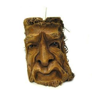 バンブーの根のアートマスク 灰皿 S [H約25cm] アジアン雑貨 バリ雑貨 エスニック 変わった灰皿|angkasa