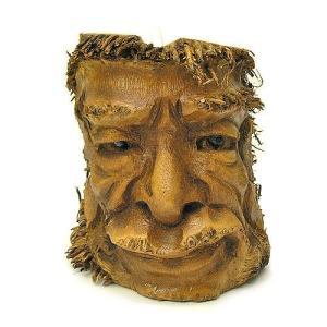 バンブーの根のアートマスク 灰皿 T [H約25cm] アジアン雑貨 バリ雑貨 エスニック 変わった灰皿|angkasa