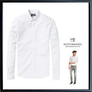 SCOTCH&SODA【 スコッチ&ソーダ 】Classic Oxford Shirt コットン・オックスフォード・長袖ブラウス COLOR:【 WHITE 】ホワイト|angland