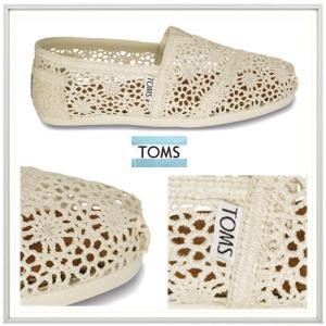 TOMS トムス LADY'S Classics かぎ針レース エスパドリュー color(NATURAL MOROCCAN CROCHET )オフホワイト|angland|02
