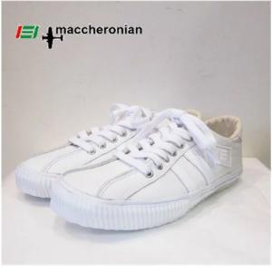 MACCHERONIAN (マカロニアン) レザー ローカットスニーカー COLOR:WHITE (ホワイト)|angland