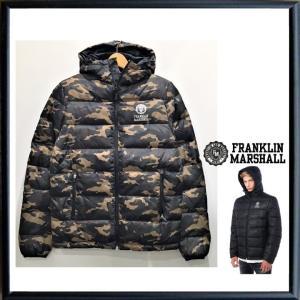 FRANKLIN MARSHALL(フランクリン マーシャル)フード付き ダウンジャケット color:CLASSIC CAMOUFLAGE(カモフラージュ柄) angland