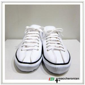 MACCHERONIAN マカロニアン レザー ローカット スニーカー COLOR:WHITE(ホワイト)|angland