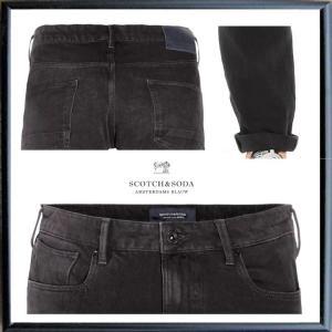 SCOTCH&SODA (Tye) テーパードフィット カラーパンツ color:BLACK(ブラック)|angland|04