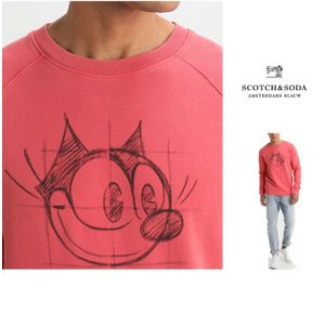 SCOTCH&SODA (スコッチ&ソーダ)胸プリント FELIX P/Oトレーナー color:PINK(ピンク)|angland|05