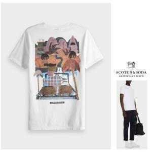 SCOTCH&SODA(スコッチ&ソーダ)胸ロゴ 半袖Tシャツ color:WHITE(ホワイト)|angland