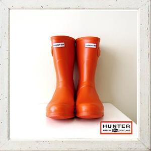 ★HUNTER 【 ハンター 】ショート ラバー ブーツ 【 ORIGINAL SHORT CLASSIC 】 color :【 CLEMENTINE 】 オレンジ|angland