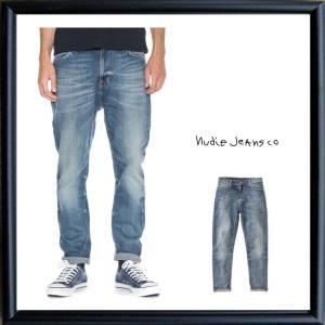 Nudie Jeans(ヌーディ-ジーンズ) BRUTE KNUT レングズ30L テーパードスリム Color:DAKOTA BLUE(ダコタブルー)|angland