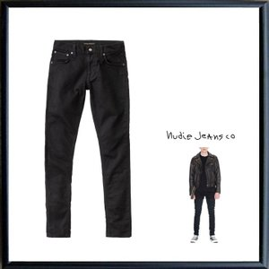 Nudie Jeans(ヌーディージーンズ) Tight Terry  スキニー レングスL30 ストレッチデニム color:DEEP BLACK(ブラック)|angland