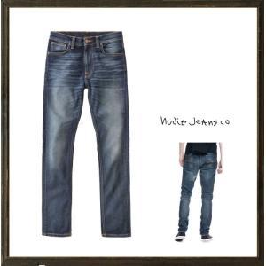 Nudie Jeans(ヌーディ-ジーンズ)LEAN DEAN タイトフィット デニム レングスL32 color:814 TRUE HUSTLE インディゴ|angland