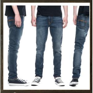 Nudie Jeans(ヌーディ-ジーンズ)LEAN DEAN タイトフィット デニム レングスL32 color:814 TRUE HUSTLE インディゴ|angland|02