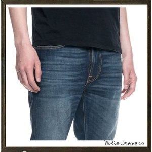 Nudie Jeans(ヌーディ-ジーンズ)LEAN DEAN タイトフィット デニム レングスL32 color:814 TRUE HUSTLE インディゴ|angland|04