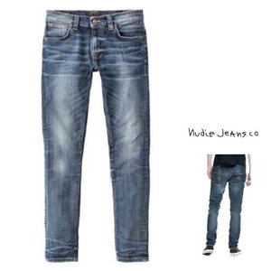 Nudie Jeans ヌーディージーンズ THIN FINN スキニー DENIM JEANS MAYOR REPLICA color:Organic Blue(インディゴ)|angland