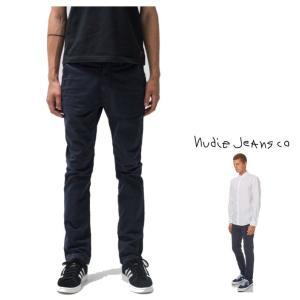 Nudie Jeans(SLIM ADAM) スリムFIT チノパンツ color:818 DARK MIDNIGHT(ネイビー)|angland