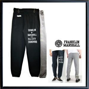 FRANKLIN MARSHALL(フランクリン マーシャル) ロゴ・スウェットパンツ color:CLASSIC MELANGE(グレー)・BLACK SHADOW(ブラック) angland