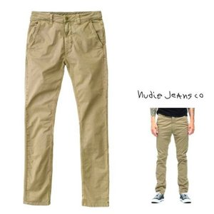 Nudie Jeans(SLIM ADAM) スリムFIT チノパンツ color:203 BEIGE (ベージュ)|angland