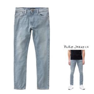 Nudie Jeans(ヌーディージーンズ) LEAN DEAN タイトフィット パワーストレッチ L30-L32 color:BROKEN INDIGO(インディゴ)|angland
