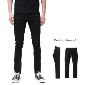 Nudie Jeans(Tight Terry) レングス L30 ストレッチ・デニム color:N841 Everblack(エバー・ブラック)|angland