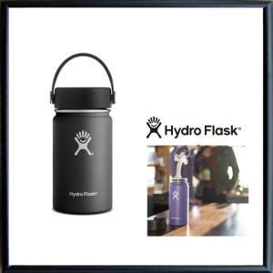 HYDRO FLASK 【 ハイドロ フラスク 】 12オンス HYDRATION ワイドマウス 『12 oz Wide Mouth』 color:20【BLACK】ブラック|angland