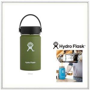 HYDRO FLASK(ハイドロ フラスク)12オンス HYDRATION(12 oz Wide Mouth) color:08 OLIVE(オリーブ)|angland