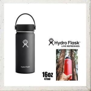 HYDRO FLASK 【 ハイドロ フラスク 】 16オンス HYDRATION ワイドマウス 『16 oz Wide Mouth』 color:20【 BLACK 】ブラック|angland