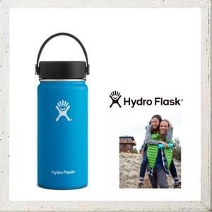 HYDRO FLASK 【 ハイドロ フラスク 】 16オンス HYDRATION ワイドマウス 『16 oz Wide Mouth』 color:03【Pacific】パシフィックブルー|angland