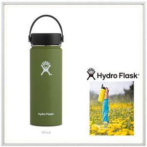 HYDRO FLASK(ハイドロ フラスク)18オンス HYDRATION(18 oz Wide Mouth) color:08 OLIVE(オリーブ)|angland