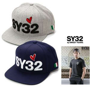 SY32 by SWEET YEARS スィートイヤーズ ロゴ キャップ Color:HEATHER GRAY(グレー)・NAVY(ネイビー)|angland