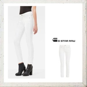 G-STAR RAW(ジースターロウ) 3301 High Waist Skinny Jeans スキニージーンズ color:3D AGED(ホワイト)|angland