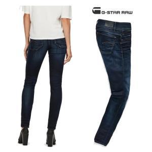 G-STAR RAW(ジースターロウ)Lynn Mid Waist Skinny Jeans SKINNY FIT スキニージーンズ color:Medium Aged(ネイビー)|angland|02