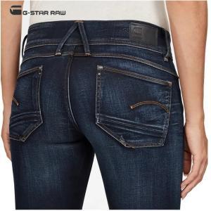G-STAR RAW(ジースターロウ)Lynn Mid Waist Skinny Jeans SKINNY FIT スキニージーンズ color:Medium Aged(ネイビー)|angland|04