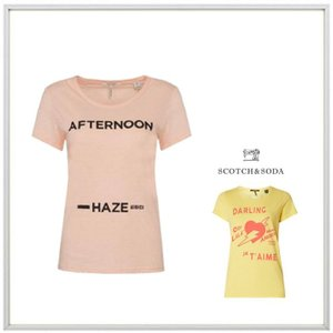 MAISON SCOTCH メイソンスコッチ LADY'S 胸ロゴ 半袖Tシャツ COLOR:PINK(ピンク)|angland
