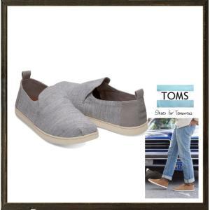 ★TOMS トムス DECONSTRUCTED ALPARGATAS エスパドリュー アルパルガータ color:Grey Stripe Chambray(グレー)|angland