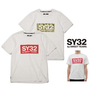 SY32 by SWEET YEARS BIGスクエア ロゴ 半袖Tシャツ COLOR:全4色|angland