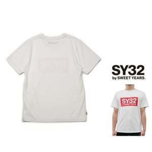 SY32 by SWEET YEARS BIGスクエア ロゴ 半袖Tシャツ COLOR:全4色|angland|03
