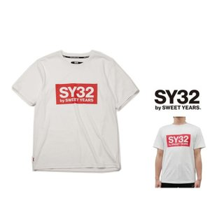 SY32 by SWEET YEARS BIGスクエア ロゴ 半袖Tシャツ COLOR:全4色|angland|04