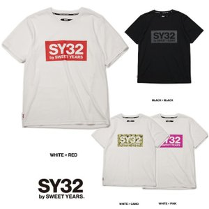 SY32 by SWEET YEARS BIGスクエア ロゴ 半袖Tシャツ COLOR:全4色|angland|06
