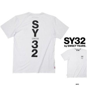 ★SY32 by SWEET YEARS バック ロゴ 半袖Tシャツ color:WHITE (ホワイト)|angland