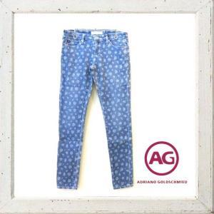 AG(ADRIANO GOLDSCHMIED) Legging Ankle フラワープリント レギングパンツ color:Denim-Bianca(サックス)|angland