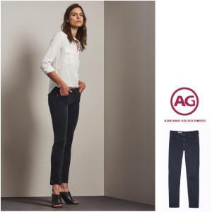 AG Lady's PRIMA コーデュロイ スキニー デニム color:SBA(ブラック)|angland